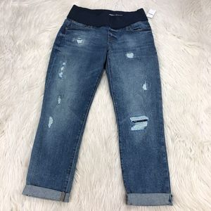 NWT Gap Maternity Distressed Best Girlfriend Jeans